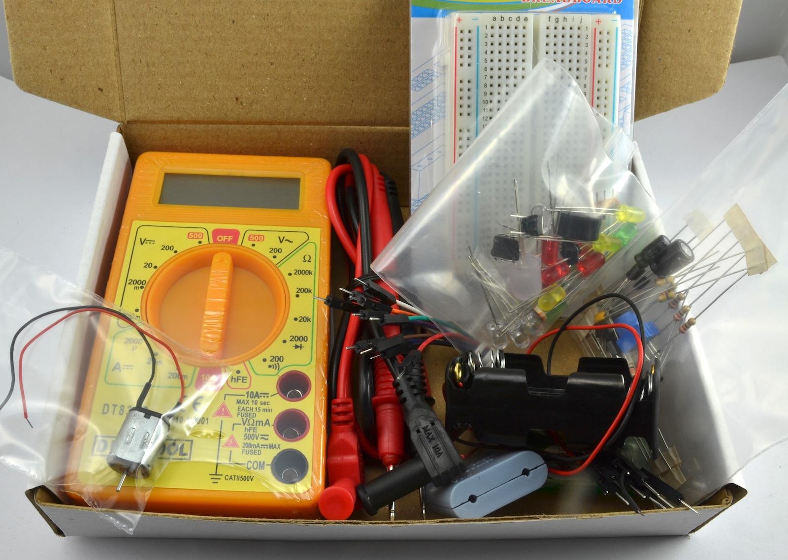 Hacking Electronics Starter Kit Monk Makes Hobby Circuit Kits