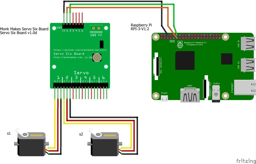 Servo Kit for Raspberry Pi - Monk Makes